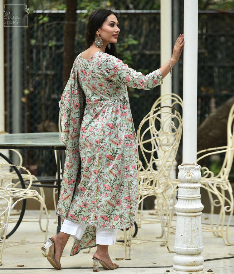 Gardenia Jaal Cotton Suit Set